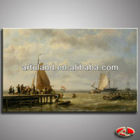 High quality traditional oil painting sail boats