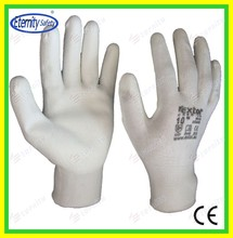 Thoughtful good service concept safety glove Nylon /poly cotton coated glove
