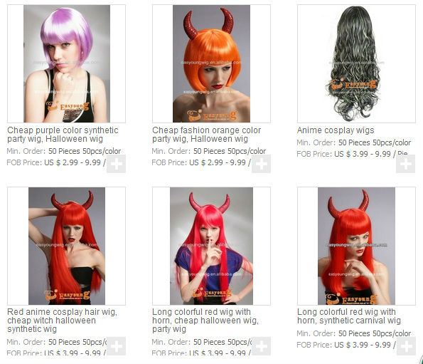 Cheap Synthetic Red hair Vampire wigs,halloween witch wig, party wigs