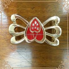wholesale garment accessories metal heart shape belt buckle for women