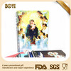fancy 3d plastic cover spiral notebook wholesale