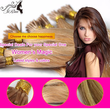 Straight indonesia human hair pre-bonded I tip hair extension, 30 inch remy human hair weft