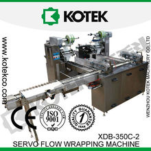 Plastic Pillow Bag Horizontal Flow Popsicle Wrapper Automatic Stick Ice Cream Wrapping Machine