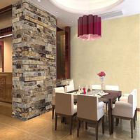 Home Decoration Modern Vintage 3D Effect Natural Embossed Stack Stone Brick Tile Vinyl Wallpaper Living Room TV Background