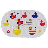 Oval shape Baby Kids Safety Non Slip Tub Shower Bath Mat, Mildew Mold Resistant Bathmat, Vinyl