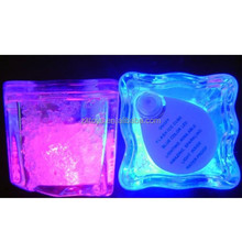 Different colorful ice cube light led ice cubes for party Bar ornaments