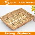venta caliente de alta calidad de la fábrica al por mayor baratos de mimbre hermoso pan mostrar cesta
