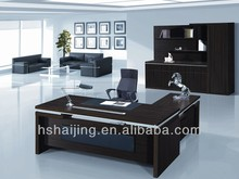 2014 Mdf office desk for executive with frosted glass America style(BK02)