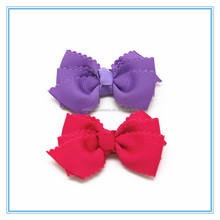 Baby girls solid color ribbon hair bow hair clips