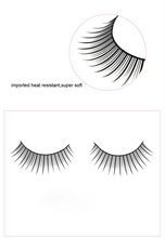 Top Quality Machine-made Mellow wholesale Permanent False Eyelashes with Black Cotton Stalk