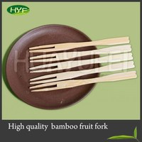 Best Sale Top Quality Disposable Bamboo Fruit Fork For Wholesale