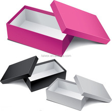 Cardboard Paper customs packing boxes for shoes.Clear Display Sneaker Shoe Box