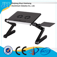 Adjustable Aluminum Laptop Desk/Stand/Table Vented Notebook-Macbook-Ultra Light Weight Ergonomic TV Bed Large Lap Tray Stand Up