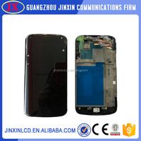 Brand new quality oem guangzhou lcd nexus 4 digitizer with frame