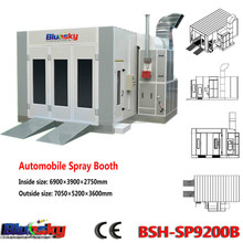2015 good choice China supplier CE used car paint booth for sale/bake oven paint booth/spray booth for car