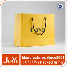 Custom cheap clothing packaging small paper gift bags with handles