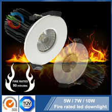SGS 90 minutes fire rated downlight high lumens TUV CE 6W/8W/ 10W fire rated led downlights 4000K IP65 led light downlight