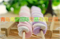 Colorful twist marshmallow fruit flavor marshmallow lollipop