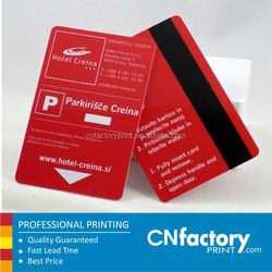 Custom Matt finish Plastic Card with Magnetic Strip