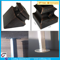 wrought iron handrail flanges