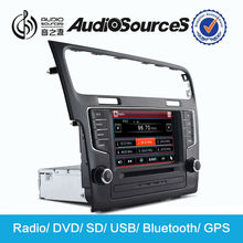 Audiosources car stereo for vw golf 7 2014 with GPS/3g/radio/Bluetooth10 virtual disc