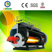 2000kg/h diesel oil and nature gas fired dual fules steam boiler