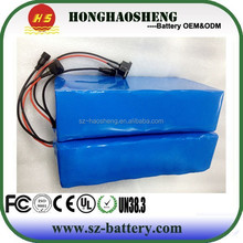 For electric bike 18650 10s4p rechargeable lithium battery pack 36v 15ah