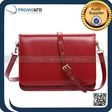 High Quality Simple Fashion Classic Red Blue Black Smart Female Bag Leather Outer Zipper Pocket Bag