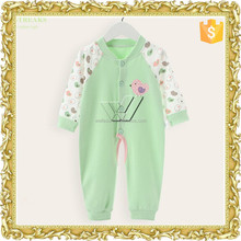 Customized cotton long sleeve baby rompers manufacturer