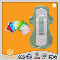 Green color sanitary pad for women