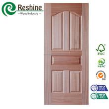 Natural Sapelle molded cabinet door skin