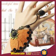 Lace Flower Felt Butterfly Bracelet Link Ring