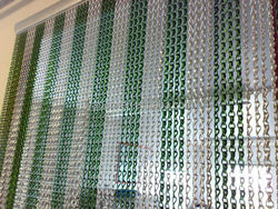 Low price chain link curtain, hot sale steel screw chain link