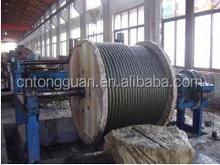 Compactado cable cadena 8K * 36WS + IWRC estampados cuerda de alambre de acero con grasa amarilla Made in china precio