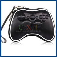 Hard Protective Carrying Case with Strap for Xbox 360 Wireless Controller (Black)