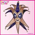 De luxo facial azul bobo da corte máscara Venetian por partido