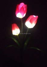 Beautiful solar flower light tulip shape solar flower light cheap and high quality solar flower light