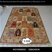[Inventory]5.5x8ft tabriz carpet prices / sabra silk rug / silk persian carpets guangzhou