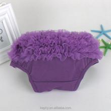 baby girls dark purple cotton ruffle girl shorts baby bloomers wholesale