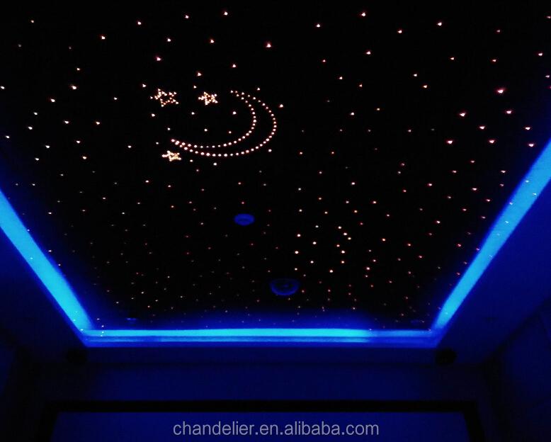 Fiber optique d coration plafond toil en fiber fiber de plafond toil lumi re led fiber - Plafond etoile fibre optique ...