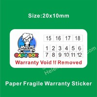 High Quality Tamper Evidence Date Warranty Sticker,Self Adhesive Paper Fragile Warranty Stickers With Logo and Month Years Print