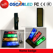 LED message Signs led name badge LED signs Rechargeable LED Display Badge