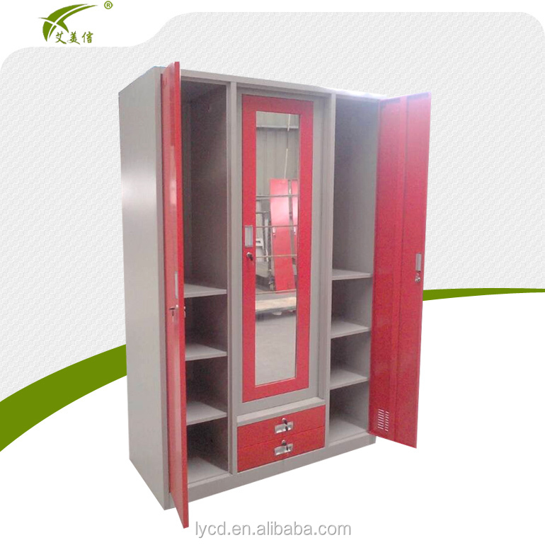 Modern design bedroom furniture steel godrej almirah for Bedroom cabinet designs india