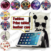"""For ipad Air 9.7"""" Tablets Printing Folding PU Leather Case Media Stand Folio Case Cover"""