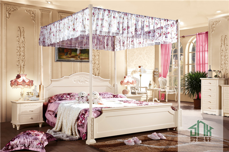 White Adult Bedroom Set Furniture Ha-808# Princess Style
