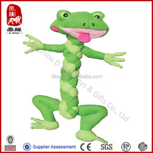 Kong Braidz dog toy soft rope toy for dog frog animal pet toy plush wholesale