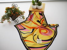 Necessary skirt garment accessories yellow silk scarves