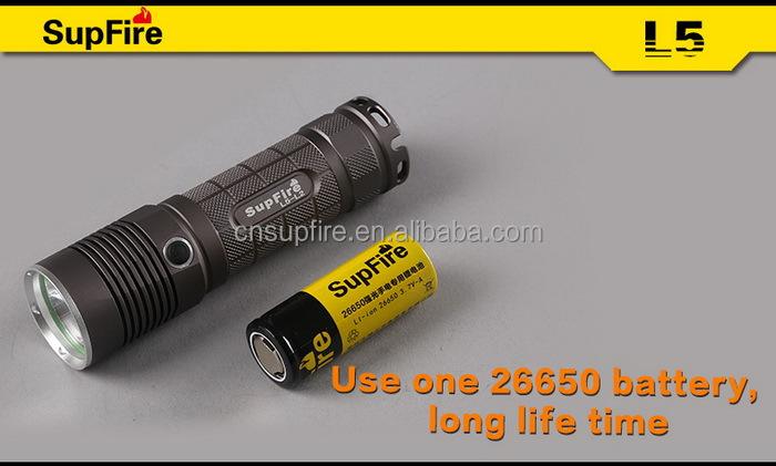 Hot sale high quality SupFire L5 aluminum waterproof led flashlight reflector