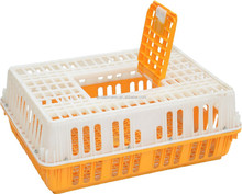 Guangzhou supplier reinforced circulating plastic chicken transport cage for sale