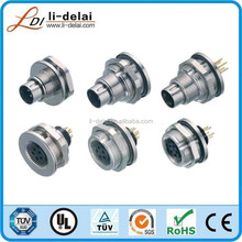 M9 male female connector M9 4p waterproof connector M9 circualr 4 pin waterproof connector